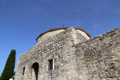 Klis Fortress - medieval fortress near the city of Split. In central Dalmatia, Croatia royalty free stock image