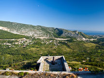 Klis fortress view. Croatia Royalty Free Stock Images
