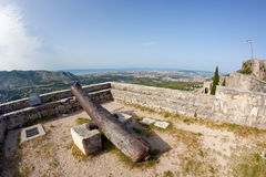 Klis - Medieval fortress in Croatia Royalty Free Stock Photography