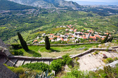 Klis - Medieval fortress in Croatia Stock Image