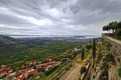 Klis - Medieval fortress in Croatia near Split in Dalmatia Royalty Free Stock Image
