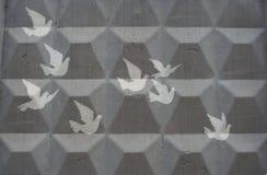 Klischeezeichnung der Tauben Stockfotos
