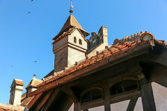 Klislott - Dracula s slott Arkivfoto
