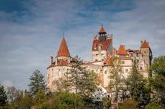 Klislott - Draculas slottDracula fästning Brasov Rumänien royaltyfria foton
