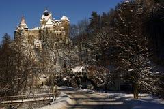 Klislott i vinterlandskap Arkivfoton