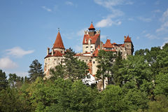 Klislott (slotten av Dracula) romania Fotografering för Bildbyråer