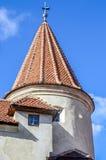 Klislotten, Dracula slott, detalj av exterioen Royaltyfri Foto