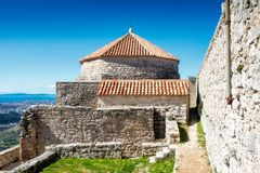 Kliss slott Dubrovnik Arkivfoto