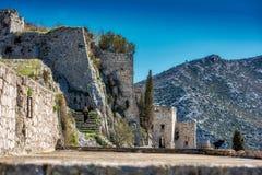 Kliss slott Dubrovnik Arkivbilder
