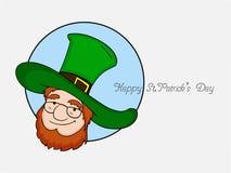 Klistermärke, etikett eller etikett för lyckliga Sts Patrick dag Fotografering för Bildbyråer