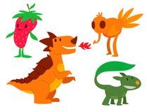 Klistermärke för djur för gigantiskt för teckenvektor roligt för design för beståndsdel för humor för emoticon för fantasi uttryc vektor illustrationer