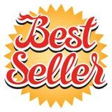 Klistermärke för mest bra säljare Arkivbild