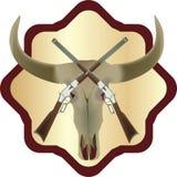 Klistermärke med skallen Royaltyfri Foto