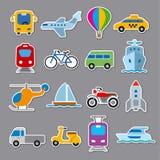 Klistermärkear av transport arkivfoto