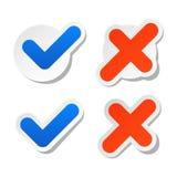 Klistermärkear för kontrollfläck för websiteklistermärke Royaltyfria Foton
