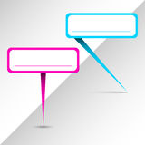 Klistermärkear för neonrambubbla Arkivfoto
