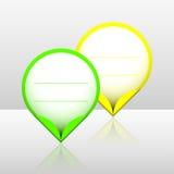 Klistermärkear för neonramklick Fotografering för Bildbyråer