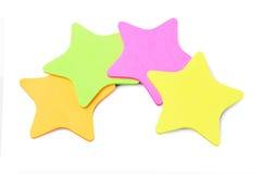 Klistermärkear för stjärnaShape papper Arkivbilder