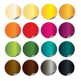 Klistermärkear i 12 olika färger för bok vektor illustrationer