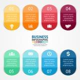 Klistermärkear och etiketter för den infographic affären Arkivfoton