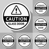 Klistermärkear och etiketter på dooren-06 Arkivbild
