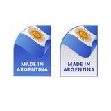 Klistermärkear som göras i Argentina vektor vektor illustrationer