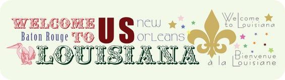 Klistermärkevälkomnande till Louisiana Arkivfoto
