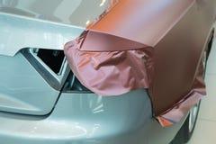 Klistra av kol- plast- för bil Fotografering för Bildbyråer