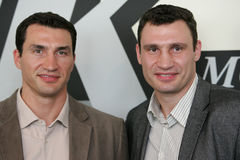 klitschko αδελφών μπόξερ Στοκ εικόνα με δικαίωμα ελεύθερης χρήσης