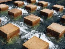 Kliva stenar i vatten Arkivbild