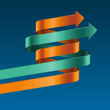 Kliver mallen för den pappers- remsan. Infographic vektoralternativ. Royaltyfri Bild