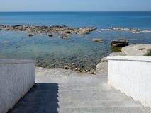 Kliver till havet Arkivfoto