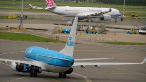 KLM波音737拖曳 股票视频