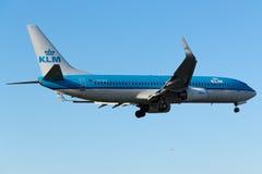 KLM波音737-800 免版税图库摄影
