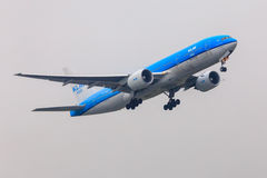 KLM波音777 库存照片