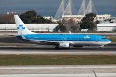 KLM波音737-800 图库摄影