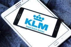 Klm皇家荷兰航空公司商标 免版税库存图片