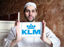 Klm皇家荷兰航空公司商标 库存照片