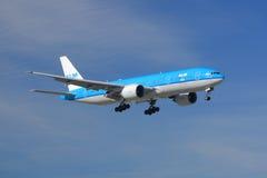 KLM Ásia Boeing 777 Foto de Stock Royalty Free