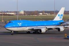 KLM Ásia Boeing 747-400 Foto de Stock Royalty Free