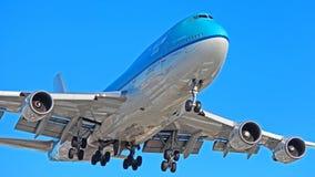 KLM Ásia Boeing 747-400 Combi imagem de stock royalty free