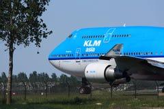 KLM 747 que taxiing Fotografia de Stock Royalty Free