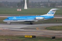 KLM airplane Royalty Free Stock Photos