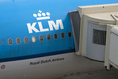 KlM airplane part Royalty Free Stock Image