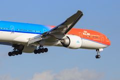 KLM 777 Royalty Free Stock Images