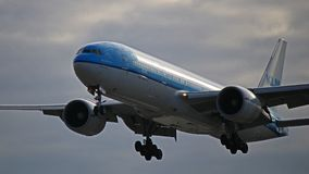 KLM Asien Boeing 777-200ER på Toronto Pearson Arkivfoton