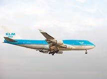 KLM Asien 747 PH-BFY Fotografering för Bildbyråer