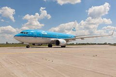 KLM B737 Royalty Free Stock Image