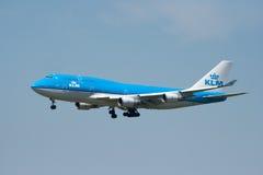 KLM B747 Image stock