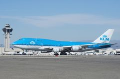 KLM Boeing 747-400 Royaltyfria Bilder